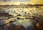 Schilderijen landschap - Laurens Boersma Waterland 1